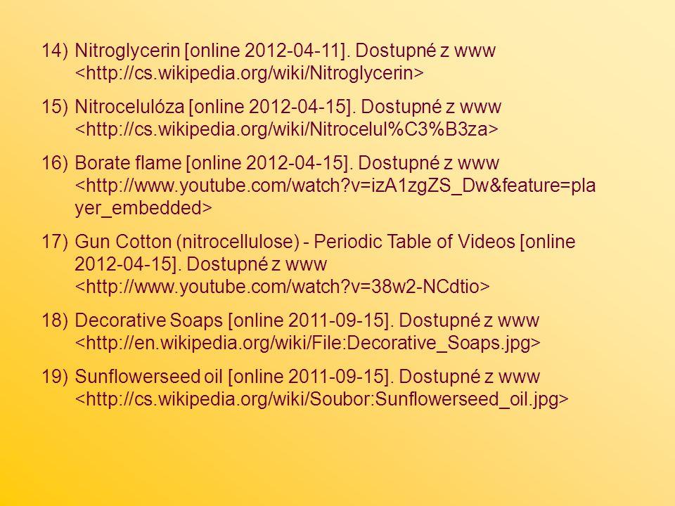 Nitroglycerin [online 2012-04-11]. Dostupné z www <http://cs